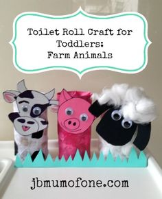 Really simple and fun toilet-roll craft, perfect for toddlers