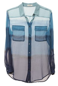 Equipment Blue Ombre - Oxygen Boutique - Would love this to wear over a tank top in summer.