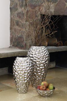 Fink Bodenvase BORA - Beeindruckende Bodenvasen aus Keramik in gehämmerter Optik