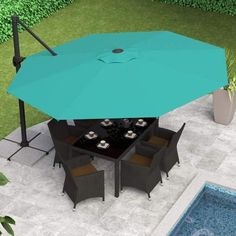 plus stuff solar fenton patio umbrella ksp grey kitchen led