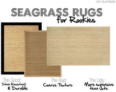 The pros and cons of seagrass rugs! Natural fiber rugs are great options for any home space.