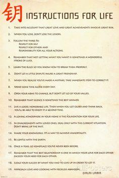 Instructions for Life Dalai La Posters na AllPosters.com.br