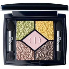 Dior 5 Couleurs Eyeshadow Palette, Glowing Gardens Collection (200 BRL) ❤ liked on Polyvore featuring beauty products, makeup, eye makeup, eyeshadow, beauty, cosmetics, rose garden, shadow brush, palette eyeshadow and eye brow makeup