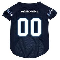 Seattle SEAHAWKS NFL dog T-Shirt in color Blue