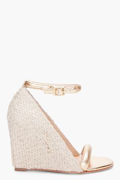 """LOVE these diane von furstenberg wedges, but can't do a 4"""" heel without a platform :("""