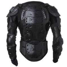 New Black Professional Motorcycle Motocross Racing Full Body Protective Armor Jacket Gear Protect Spine Chest