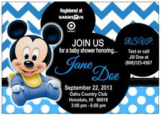 Mickey Mouse Baby Shower Invitations - √ 27 Mickey Mouse Baby Shower Invitations , Mickey Mouse Baby Shower Invitations Set Of 10 All Wording Baby Mickey Mouse, Festa Mickey Baby, Mickey Baby Showers, Baby Shower Parties, Shower Baby, Baby Party, Printable Baby Shower Invitations, Baby Invitations, Invitation Ideas