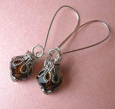 SMOKY TOPAZ earrings on French wires. $7.00.  http://www.etsy.com/listing/123012961/smoky-topaz?#~<3