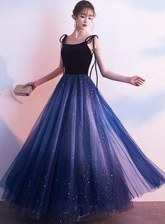 Blue Tulle with Velvet Straps Long Party Dress, Gorgeous Formal Gown 2 – BeMyB., - Blue Tulle with Velvet Straps Long Party Dress, Gorgeous Formal Gown 2 – BeMyB…, Source by - Pretty Prom Dresses, Cheap Bridesmaid Dresses, Prom Dresses Blue, Elegant Dresses, Beautiful Dresses, Elegant Formal Dresses, Teen Dresses, Prom Dresses For Teens, Spring Dresses