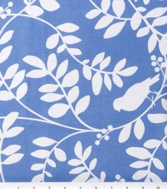 Home Decor Fabric-DwellStudio® Botany Flora Hydrangea at Joann.com orig $29.99. The blue is darker in person