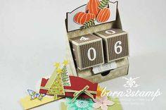 STAMPIN' UP! born2stamp ewiger Kalender perpetual calendar Anleitung tutorial: http://www.born2stamp.com/2014/12/06/december-inkspiration-heute-das-mein-6-tuerchen/