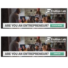 Create a compelling simple digital banner ad for Fruition Lab by DesK_fl