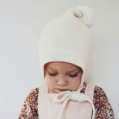 Just a wee bit cute in her cream elfin @hellominouche ... have you entered our Autumn giveaway? Super easy to get yourself a handy $100  to spend on delicious winter goodies  #acornkids #kidshats #elfinbeanie