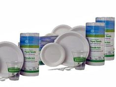 Sustainable Earth Products by Staples, plates, cups, forks, knives and more! - Night Time Helper Blog......