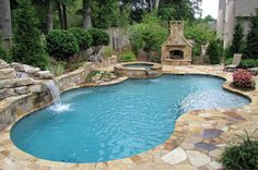 Fits perfectly in our backyard!  Aw...take me away!  I miss my pool.
