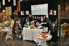 displaying crocheted items at a fair - Google Search
