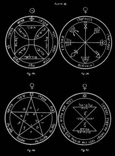 The Key of Solomon - Plates 1 to 10: The Order of Pentacles.