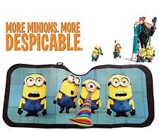 Spring Pop Up Sun Shade Despicable Me Minion Made Minions Auto Car Truck SUV Vehicle Universal Fit Front Windshield Sunshade