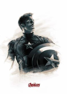 Fan art of 'Captain America' from 'Avengers: Age Of Ultron' (2015)