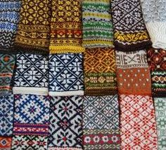 Norwegian mitten patterns - one day I may be talented enough to try something this intricate....