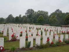 Artillery Wood Cemetery east of Boezinge that contains 801 identified casualties.