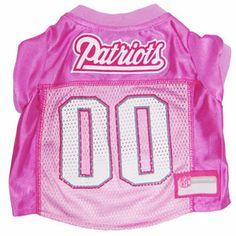New England Patriots Pink NFL Dog Jersey