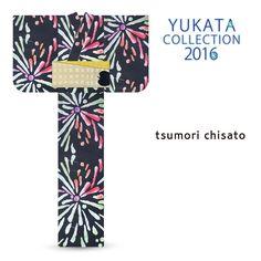 2016 Summer tsumori chisato Yukata Colorful Night Sky Fireworks Black