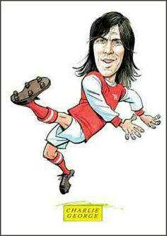 Charlie George of Arsenal in cartoon mode.