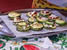 Torrette di zucchini e mozzarella