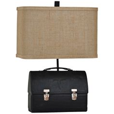 Crestview Collection Lunch Box Antique Black Table Lamp - Style # 8V394
