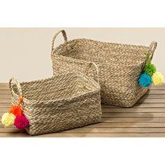 Sada 2 košíků z mořské trávy Boltze Juanita Largo