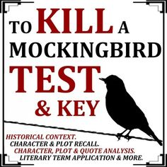 To Kill a Mockingbird Test & Key: This is a summative assessment on To Kill a Mockingbird by Harper Lee. An answer key is included. This test is designed to measure student reading comprehension and ability to analyze key concepts and themes in the novel. School Resources, Teaching Resources, Teaching Ideas, Formative And Summative Assessment, To Kill A Mockingbird, Book Study, Reading Comprehension, Novels, Multiple Choice