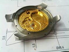 After goldplating... Birth, Watches, How To Make, Handmade, Accessories, Hand Made, Wristwatches, Being A Mom, Clocks