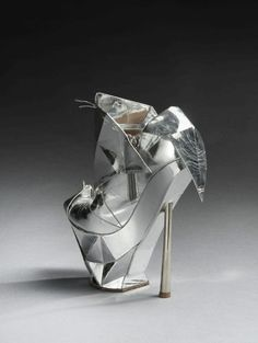 Shoe art...Lady Gaga Armani shoe to auction for $6,500 in Paris
