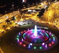 Plaza Venezuela - Caracas this is where he is tonight