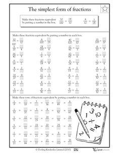 Equivalent fractions - Worksheets & Activities | GreatSchools