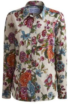 Joules Classic  Womens Shirt In Cream Floral on shopstyle.co.uk