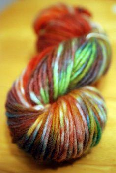 Beautiful hand-dyed yarn...you can do it yourself using Sugar-free Kool-Aid!!