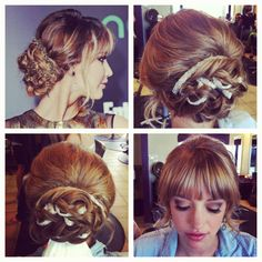 Bridal look inspired by Jennifer Lawrence
