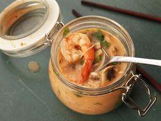 DIY Instant Noodle Cups - Shrimp coconut curry soup