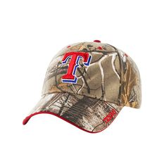 MLB Texas Rangers Fan Favorite Realtree Hat, Adult Unisex