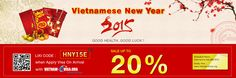 Save 20% OFF to get Vietnam Visa On Arrival with promotion code: HNY15E