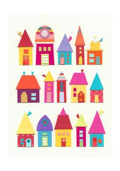 made with felt. Attatch to A felt board village Felt Crafts, Crafts For Kids, Arts And Crafts, Paper Crafts, Rose Crafts, Kids Diy, Art Projects, Sewing Projects, Auction Projects