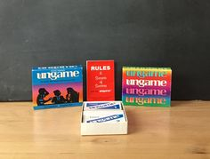 The UnGame Teens Version Card Game 1989 Teachers Counselors Summer Camp Scrapbook Altered Art Supply Paper Ephemera Teaching Homeschooling by injoytreasures on Etsy