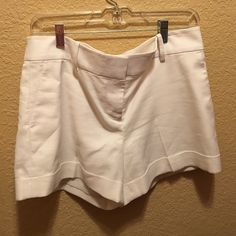 White Ann Taylor shorts size 8 White Ann Taylor shorts size 8 blend with 4% spandex and lined Ann Taylor Shorts
