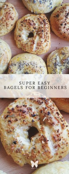 Bagels for Beginners -- I'm all about things being simple, and these easy bagels for beginners are so delicious! You'll never want to buy store-bought bagels again.