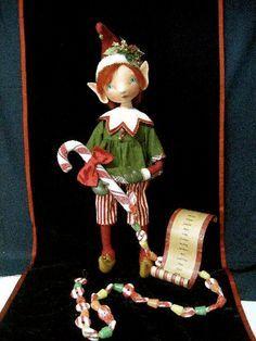 Pixie Cloth Doll - original handpainted - OOAK Christmas Elf Santas Helper - Candy