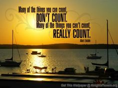 """""""Many of the things you can count, don't count. Many of the things you can't count, really count."""" -Albert Einstein inspirational quote desktop wallpaper (click to download)"""