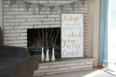 18x34 Perhaps this is the moment for which you were created framed wood sign by SaltedWordsCompany on Etsy