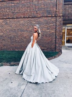 Prom Dress Ball Gown,Strapless Prom Dress,Long Prom Dress,Simple Prom Dress 2019 Prom Dress Ball Gown,Strapless Prom by PrettyLady on Zibbet Hoco Dresses, Dance Dresses, Ball Dresses, Pretty Dresses, Homecoming Dresses, Beautiful Dresses, Ball Gowns, Elegant Dresses, Strapless Prom Dresses